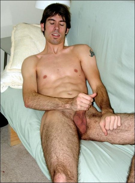Male with hairy legs masterbating14